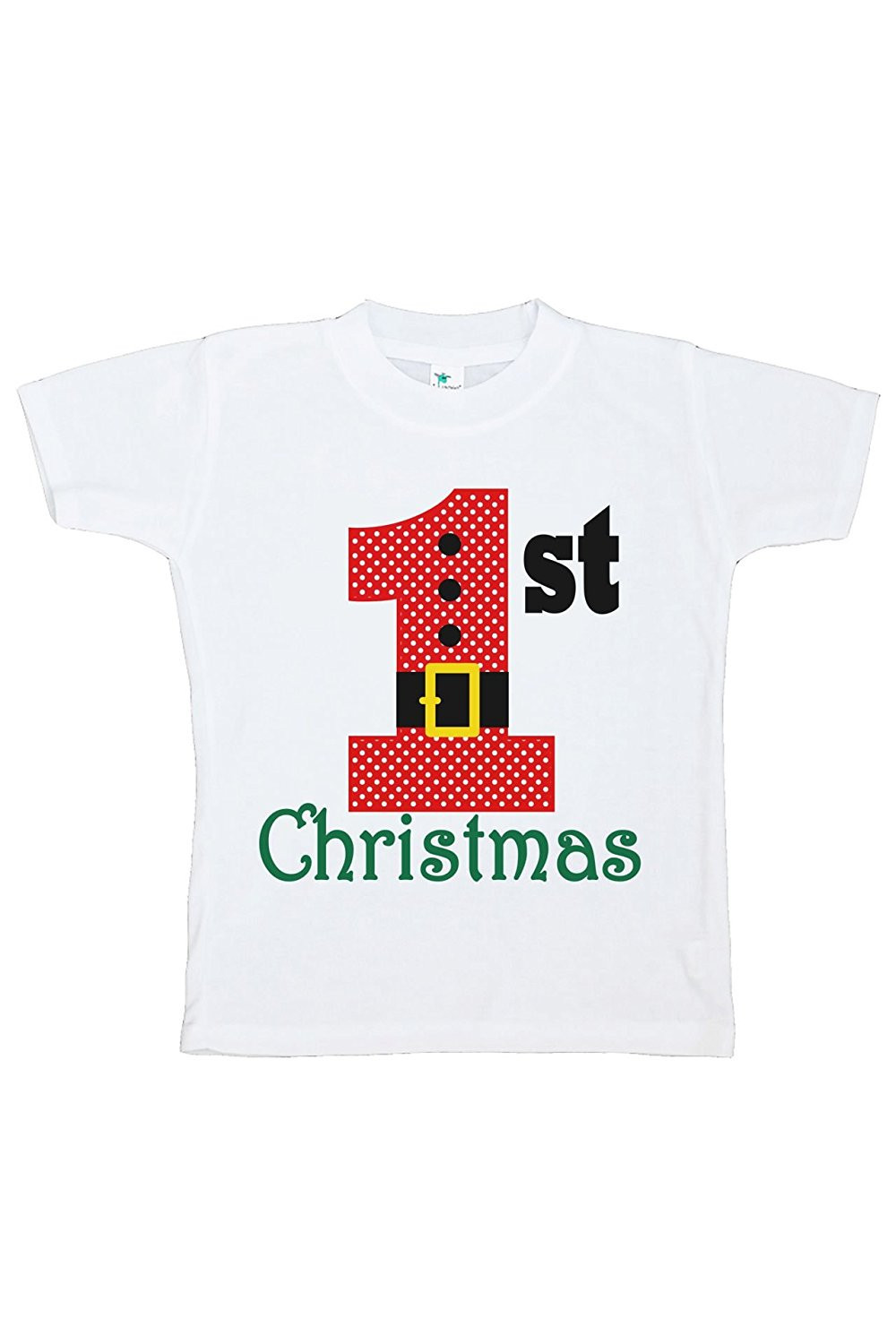 Custom Party Shop Youth 1st Christmas Raglan Shirt Red