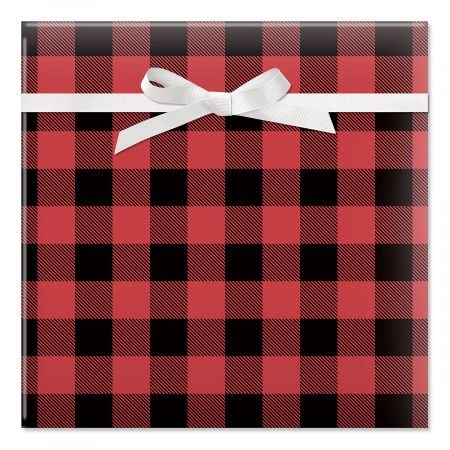 Buffalo Plaid Christmas Rolled Gift Wrap - 72 sq. ft.