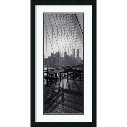 Amanti Art 'View From Brooklyn Bridge' by Torsten Andreas Hoffman Framed Photographic Print