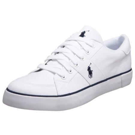 1b9d5a024b Polo Ralph Lauren 816094204110:Harold WHITE Casual Sneaker for Men 8 /  Women 9.5 (Tan Leather, 8 D(M) US)