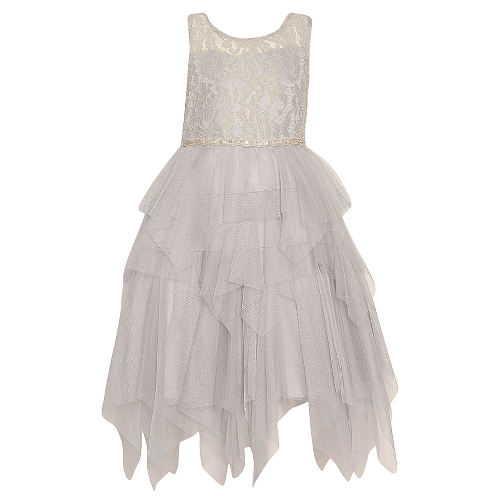 Rare Editions Tween Diva Girls Silver Lace Bejeweled Casc...