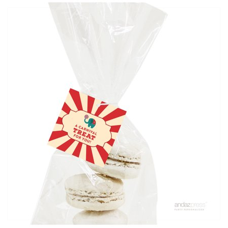 A Carnival Treat For You  Carnival Circus Birthday Square Gift Tags, 24-Pack](Carnival Ideas For School)