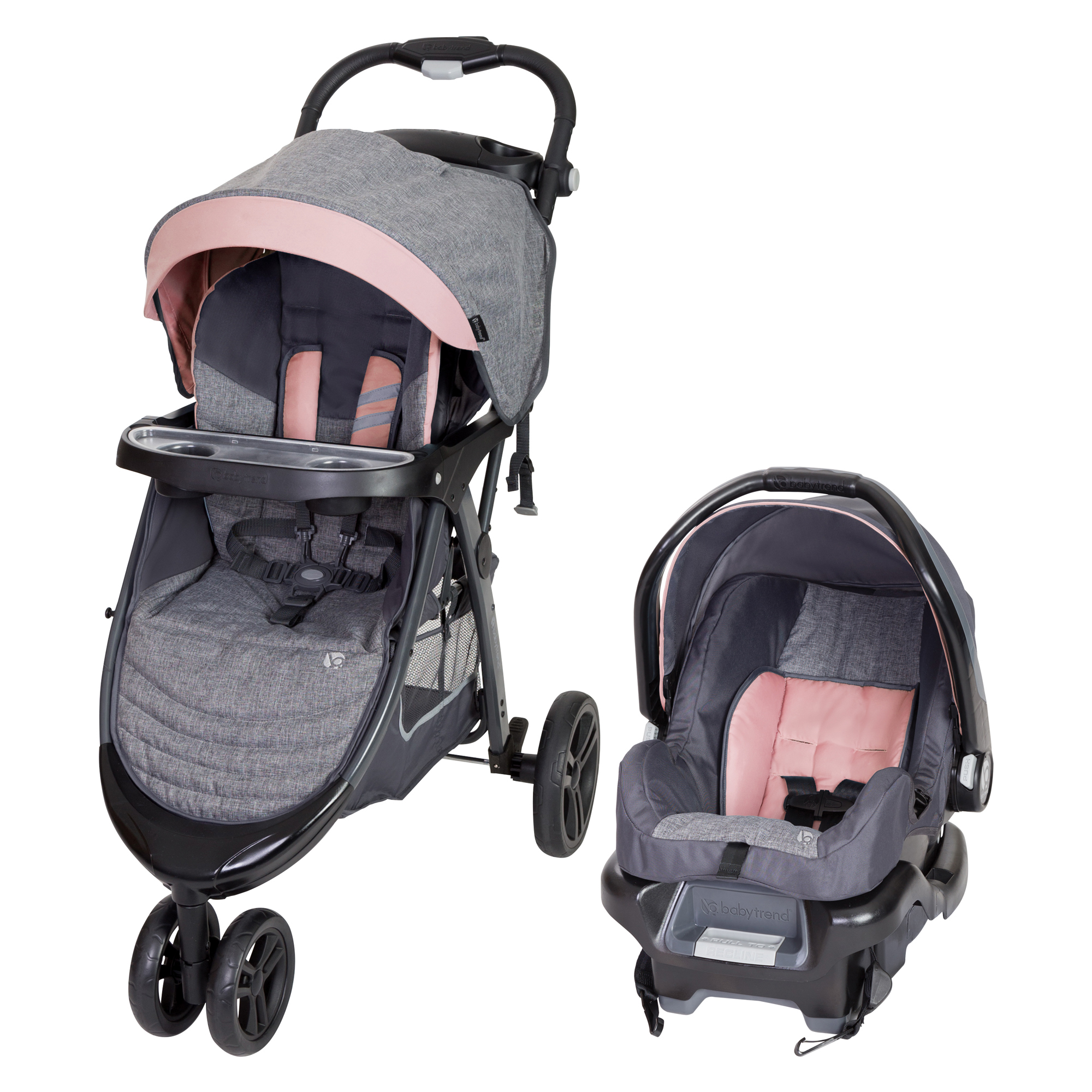 Baby Trend Skyline 35 Travel System - Starlight Pink