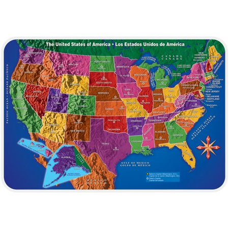 Us Map Placemat Walmartcom - Map of walmarts in us
