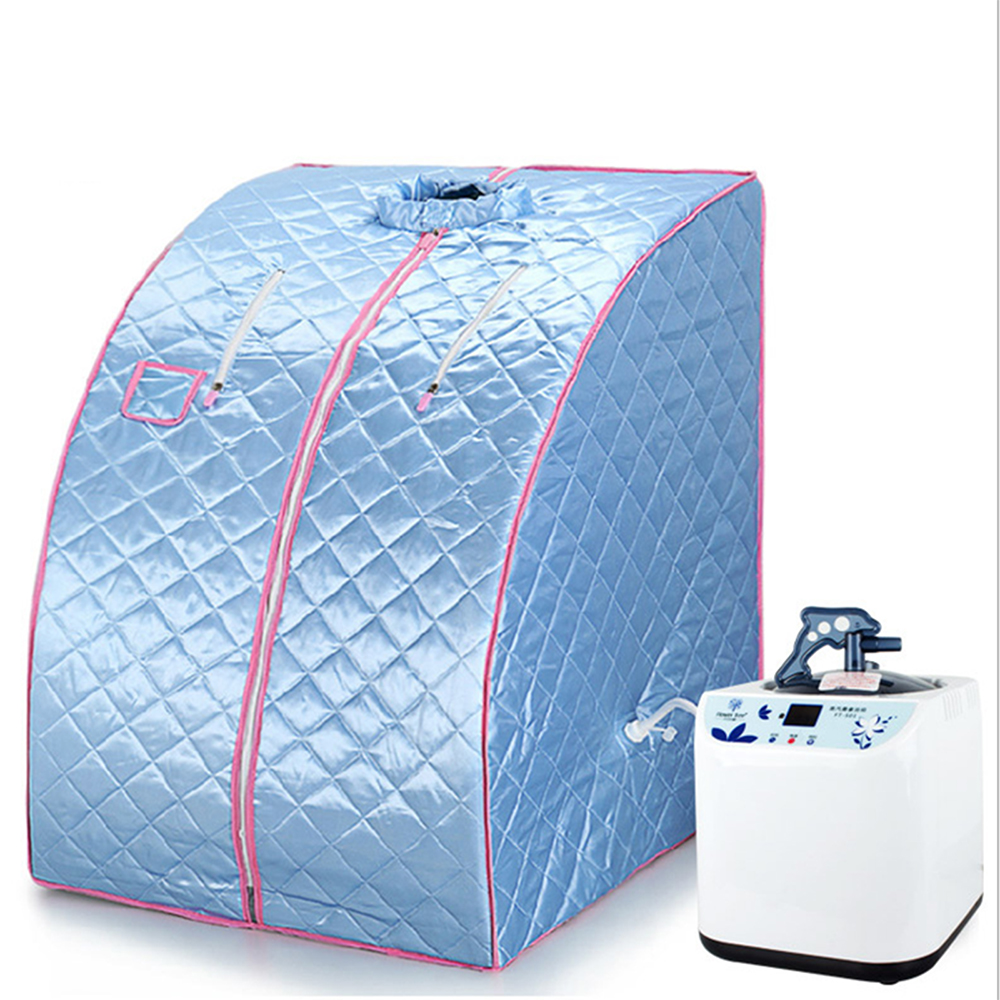 Captivating Portable Home Steam Sauna Spa With Chair Weight Loss Slimming Bath Indoor  Beauty Blue