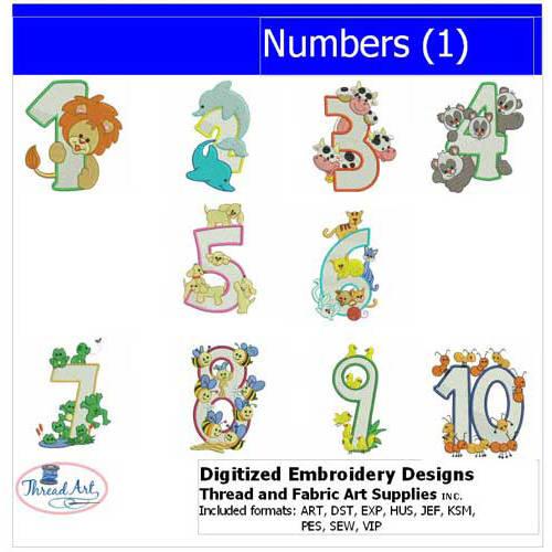 Threadart Machine Embroidery Designs Numbers(1) CD