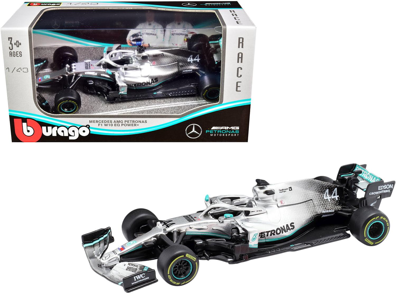 Mercedes Amg Petronas F1 W10 Eq Power 44 Lewis Hamilton Formula One Car 1 43 Diecast Model Car By Bburago Walmart Com Walmart Com