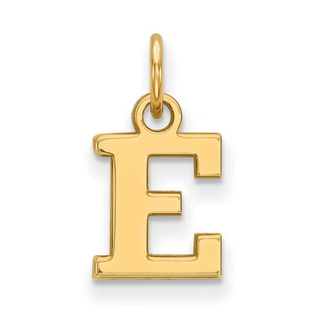 Michigan Outdoor Pendant - Solid 925 Sterling Silver with Gold-Toned Eastern Michigan University Extra Small Pendant (8mm x 15.5mm)