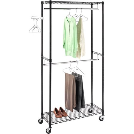 Whitmor Supreme Double Rod Garment Rack Walmartcom