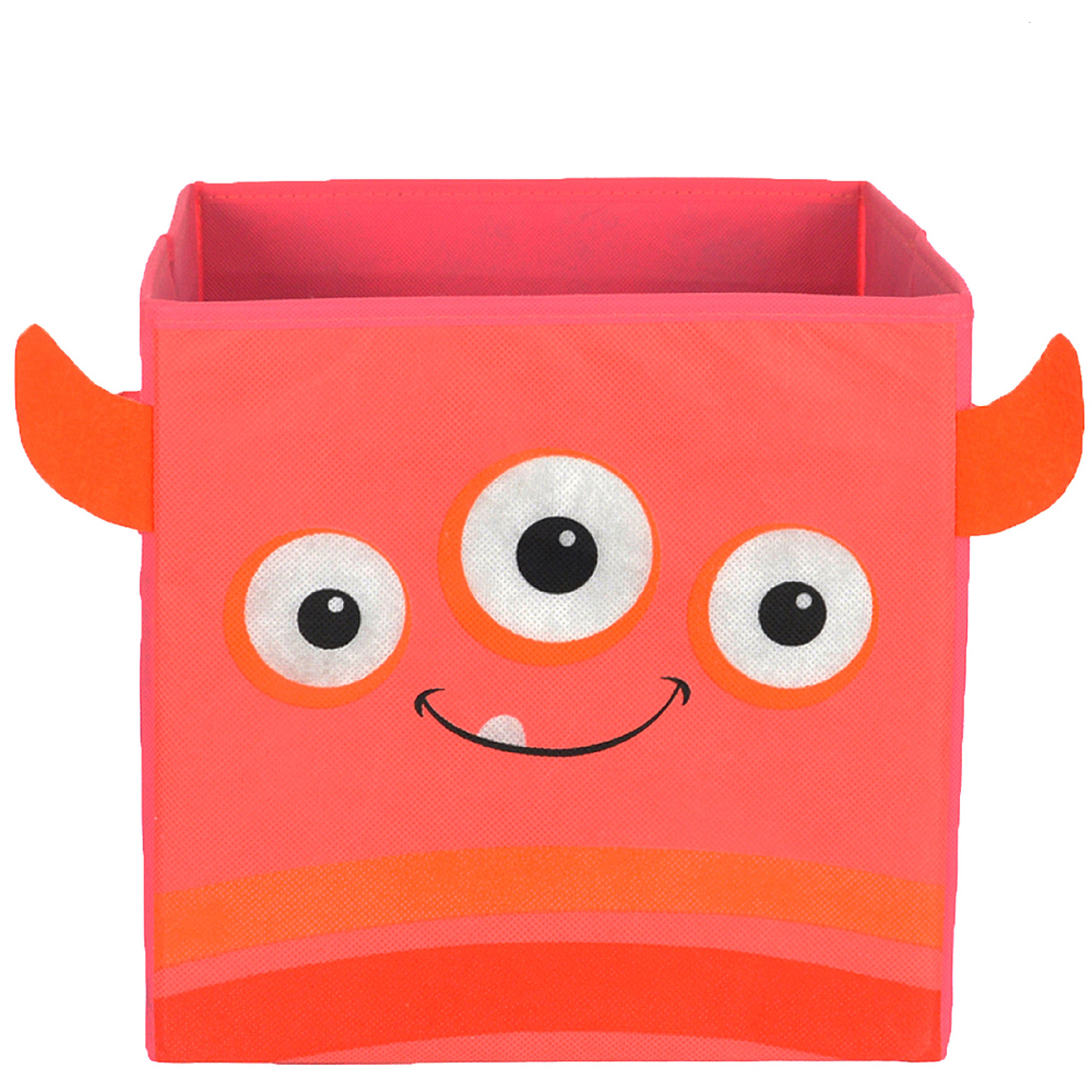 Nuby Monster Folding Storage Bin, Pink