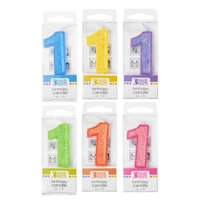 '1' Glitter Numeral Candle