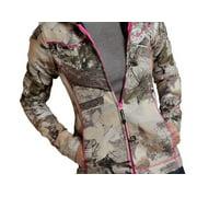 Roper Western Jacket Womens Fleece Camo Hood Brown 03-098-0692-0470 BR