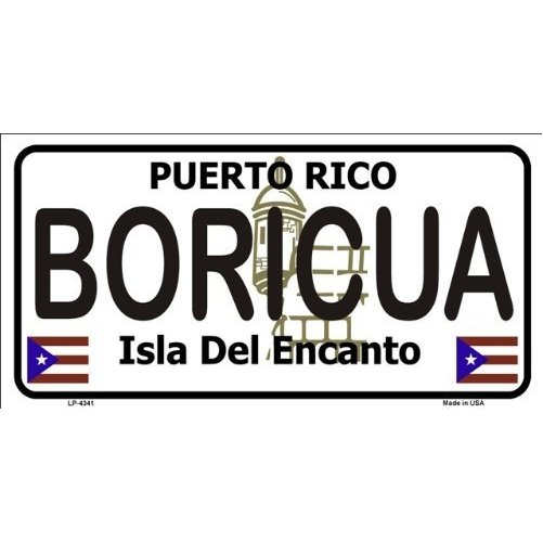 PUERTO RICO NOVELTY STATE BACKGROUND METAL LICENSE PLATE