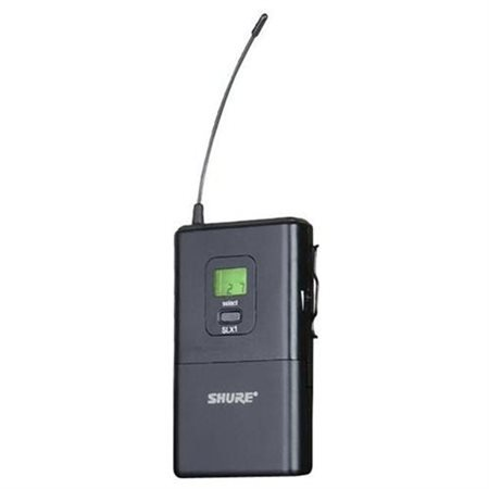 Slx1 Bodypack Transmitter (shure slx1 wireless bodypack transmitter, g4, 470-494 mhz frequency)
