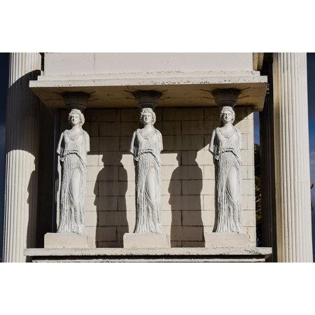 Plastic Greek Columns (Laminated Poster Caryatid Decorative Classical Column Greek Cyprus Poster Print 11 x)