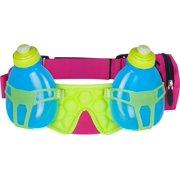 FuelBelt Helium H20 2-Bottle Hydration Belt: Maui Pink/Lagoon Green/Honolulu Blue One Size