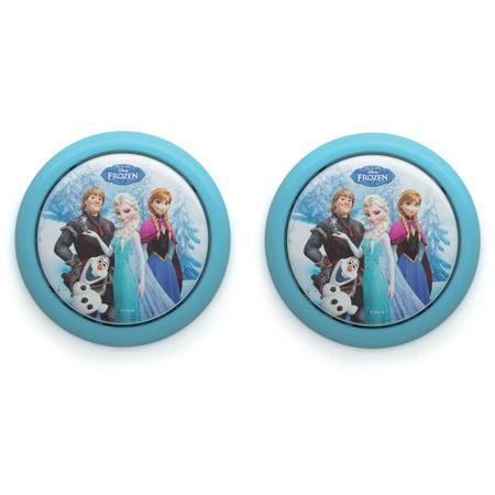 Philips Disney Frozen Elsa Anna Olaf Battery LED Push Touch Night Light (2 Pack) (Frozen 2)
