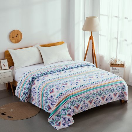 Mainstays Queen Super Soft Plush Bed Blanket in Aztec