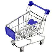 TureClos Baby Kids Simulation Mini Shopping Cart Toys Handcart Supermarket Storage Basket Trolley Toy