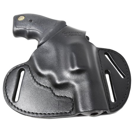Garrison Grip Premium Full Grain Black Italian Leather 2 Position Tactical Holster Fits Taurus Small Frame 38 Special and 9mm (38 Special 158 Grain)