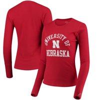 Nebraska Cornhuskers League Women's Sarah Waffle Thermal T-Shirt - Scarlet