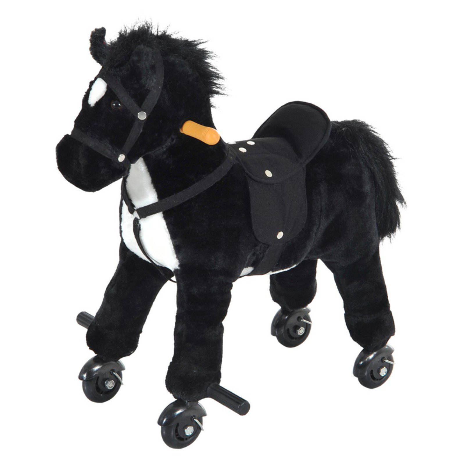 Qaba Plush Walking Horse Toy with Wheels and Sound by Aosom LLC