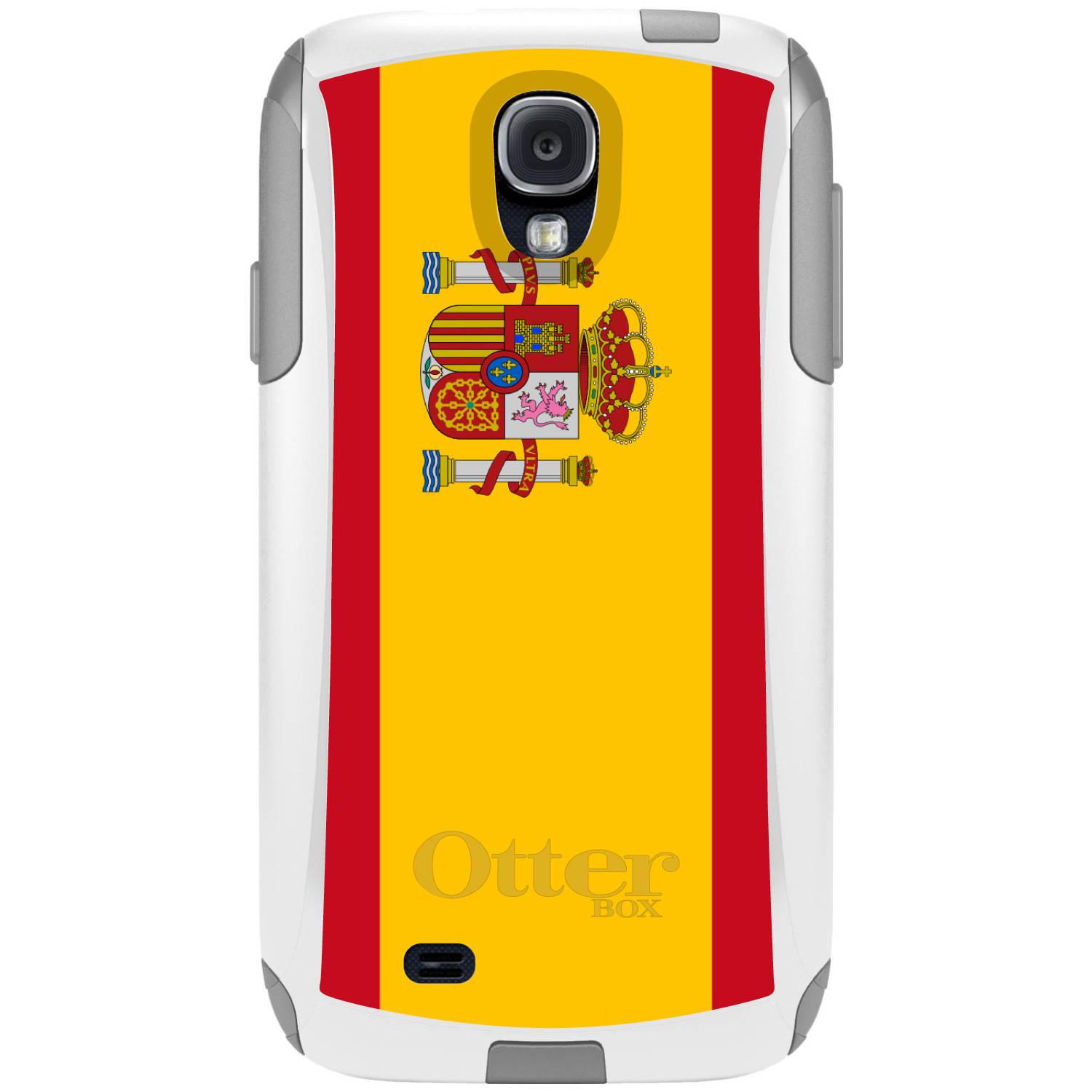 DistinctInk Custom White OtterBox Commuter Series Case for Samsung Galaxy S4...