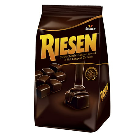 Chocolate Caramel Mousse (Riesen Chewy Caramel Chocolate, Pack of 6 )