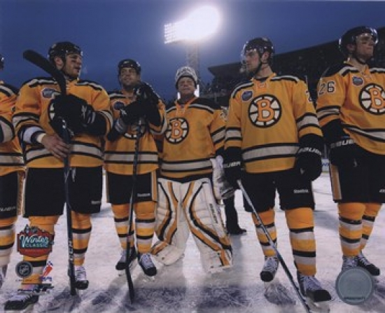 The Boston Bruins Post-Game Lineup 2010 NHL Winter Classic Sports Photo by Photofile