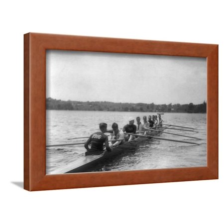 Yale Rowing Crew During Practice Photograph - New Haven, CT Framed Print Wall Art By Lantern -