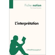 L'interprétation (Fiche notion) - eBook