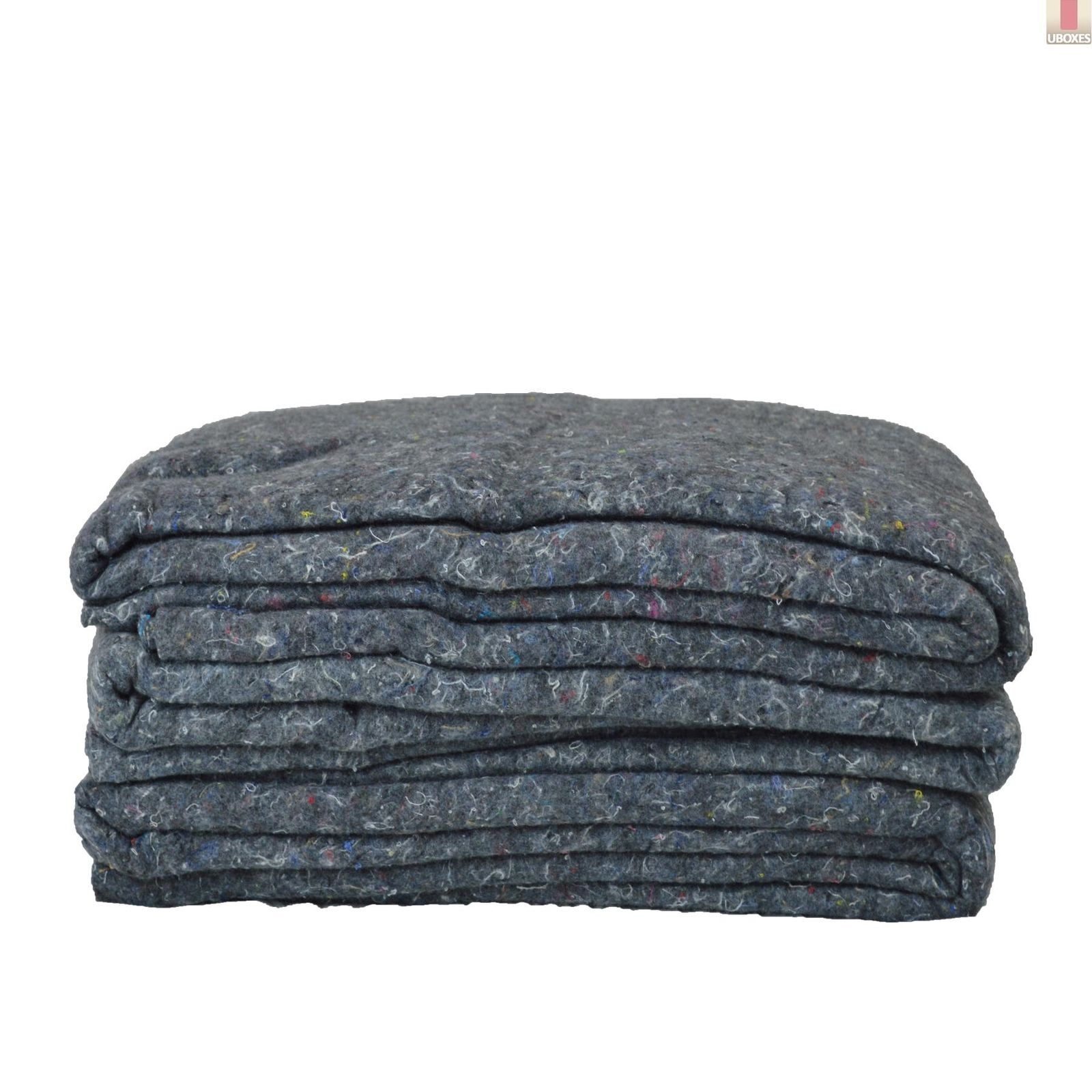 """GHP Set of 3 54""""x72"""" Grey Professional Quality Textile Moving Blankets"""