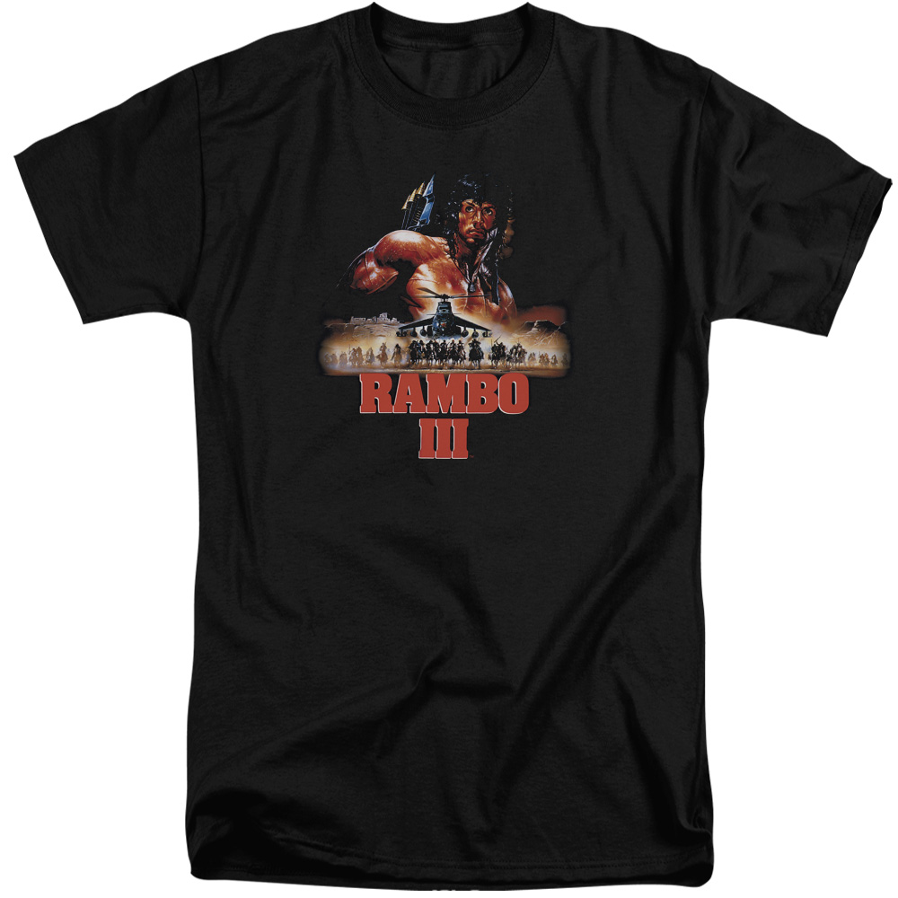 Rambo III French Poster Mens Big and Tall Shirt