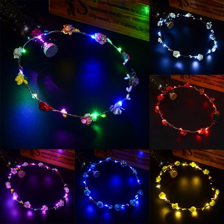 Glowing Wreath Led Light Wreath Headwear Hairband Decoration Accessories - image 3 of 6