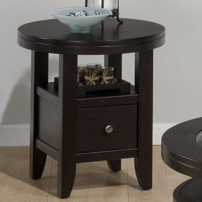 Jofran 091-6 Marlon Wenge Round End Table by