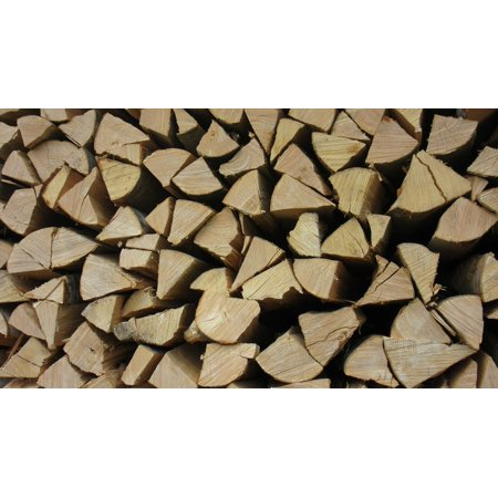 Canvas Print Stacked Up Combs Thread Cutting Firewood Holzstapel Stretched Canvas 10 x