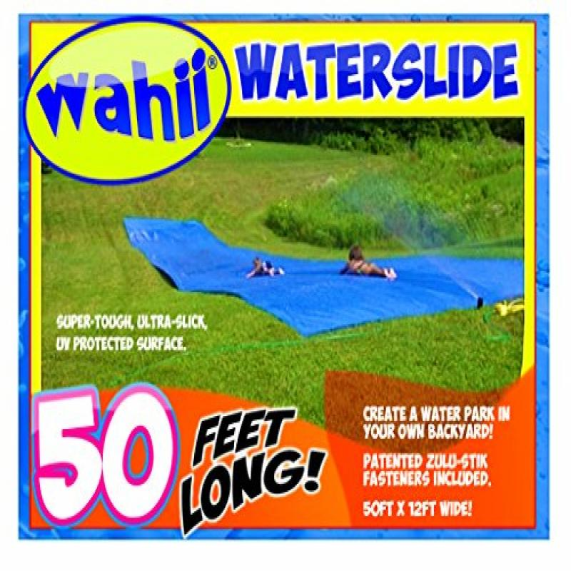 Wahii Waterslide 50 World's Biggest Backyard Lawn Waterslide! by