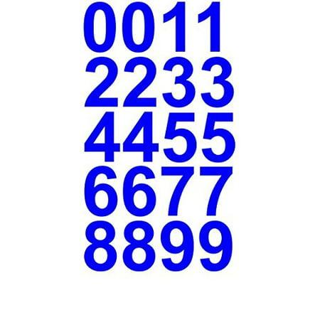Sheet of 1 Inch (Blue) Numbers Vinyl Custom Street Address Mailbox Decal Stickers Kit