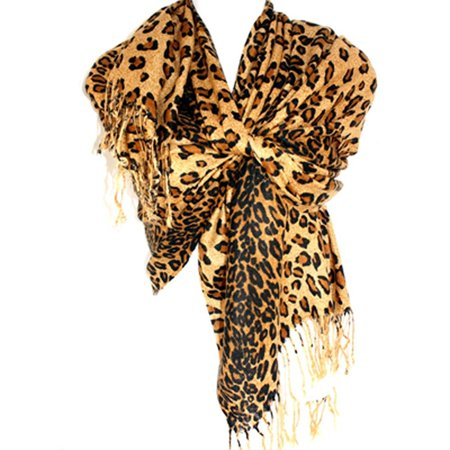 e40dca6412aa4 Silver Fever Pashmina-Leopard Animal Print Shawl- Stylish Soft Scarf Wrap -  Walmart.com