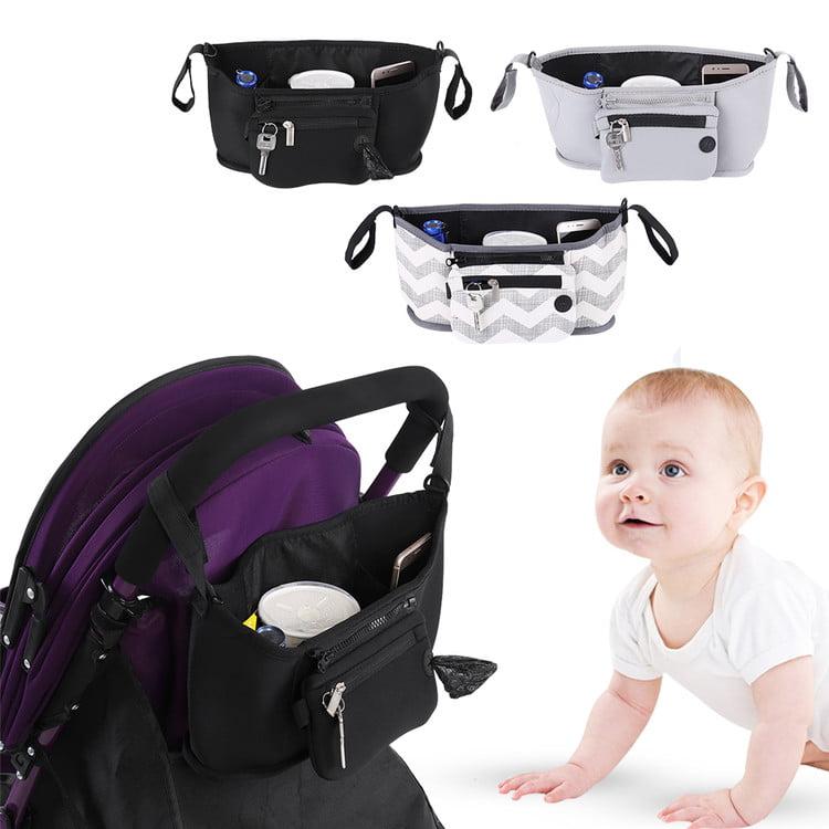Baby Stroller Organizer Bag, Cup Bag Baby Stroller Organizer Baby Carriage Pram Buggy Cart Bottle Bags by Walfront
