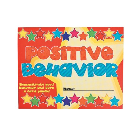 IN-12/4655 Good Behavior Punch Cards 30 Piece(s) (Behavior Punch Cards)