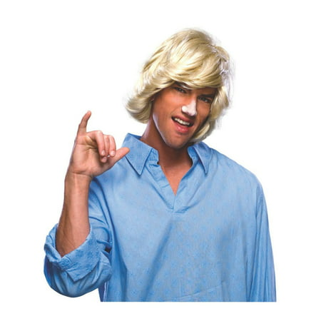 Halloween Surfer Dude Wig (Rockin' Dude Adult Costumes Wig)