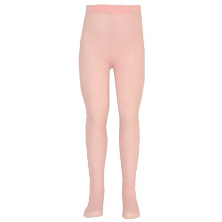 Nicole Girls Pink Solid Color Soft Stretchy Opaque Tights 7-16