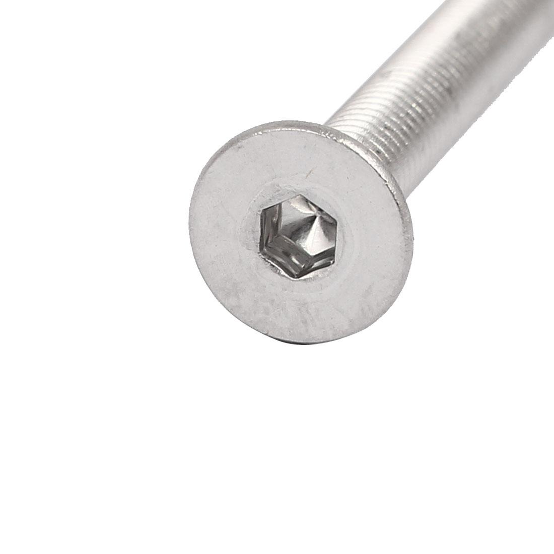 M4x55mm 304 Stainless Steel Flat Head Hex Socket Screws DIN7991 65pcs - image 2 de 4