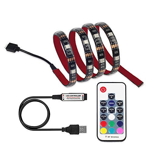 LED TV Backlight , Excellux USB RGB Bias Lighting with RF Remote Controller