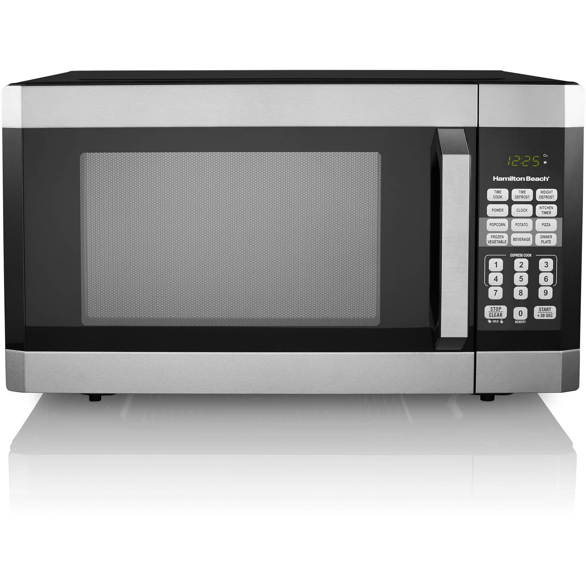 Microwave Oven Stainless Steel ~ Hamilton beach cu ft digital microwave oven stainless
