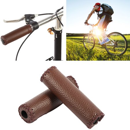 1 Pair Three Colors Retro Artificial Leather Bicycle Handlebar Grips Bike Handle Cover Grips, Handlebar Grip, Bike Handle Cover