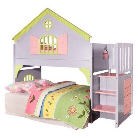 Donco Kids Donco Kids Doll House Twin Loft Bed Walmart Com