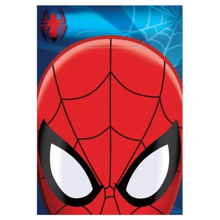 Spiderman Plastic Loot Bags (8 Pack) - Party Supplies