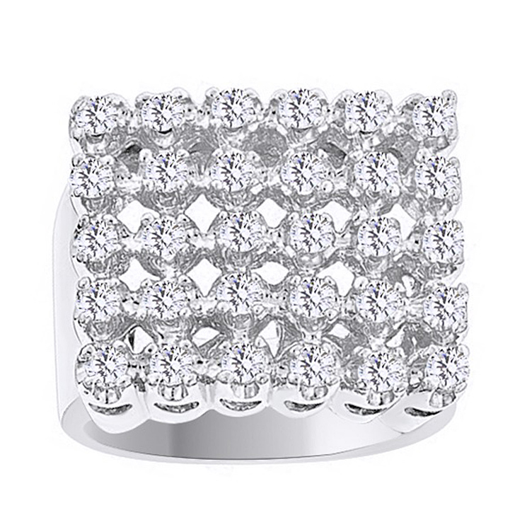White Cubic Zirconia Cluster Wedding Band Ring For Men's In 14k White Gold Over Sterling Silver (1.65 Cttw) By Jewel Zone US